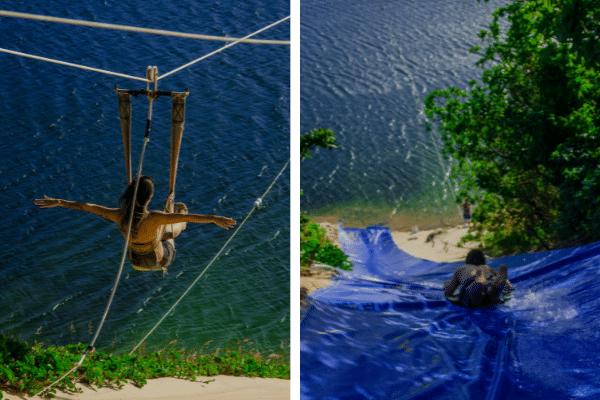 Aerobunda e Kamicase na lagoa de jacumã