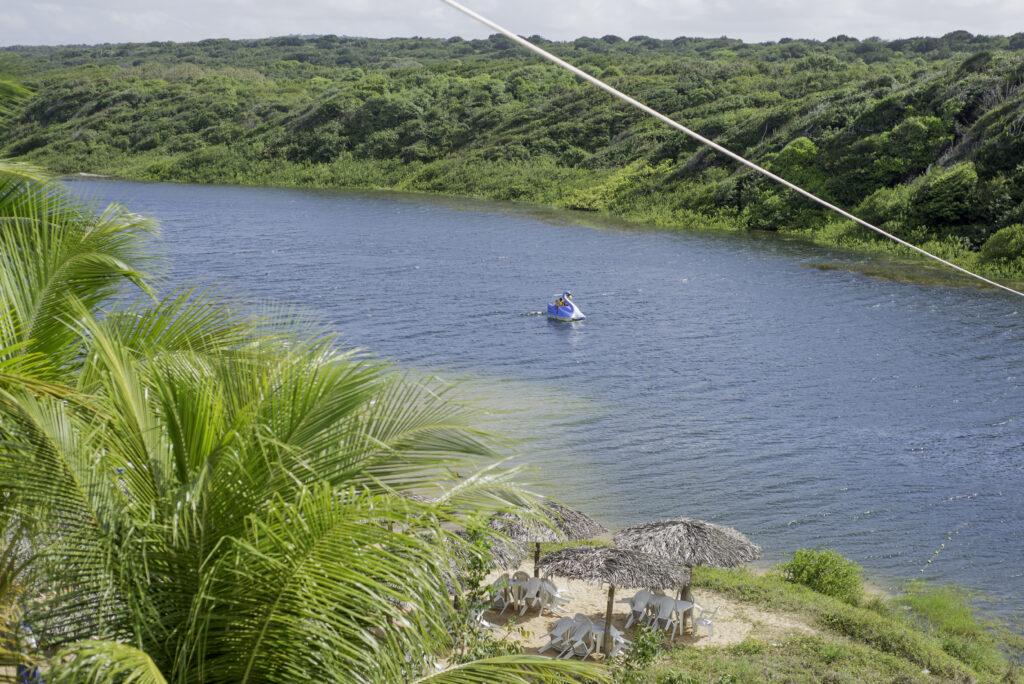 Vista de cima da Lagoa de Arituba