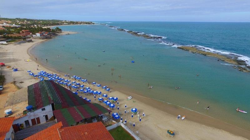 Praia de Camurupim litoral sul de Natal-RN