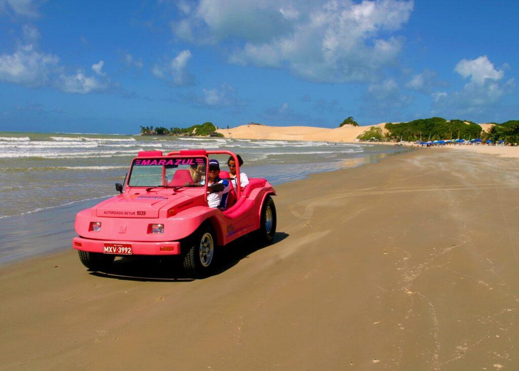Bugue rosa na praia