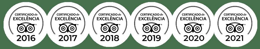 Selos TripAdvisor - Certificado de Excelência